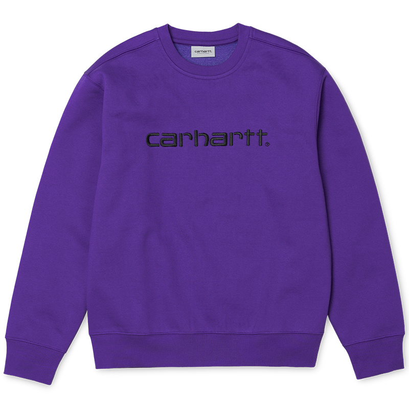 Carhartt Crewneck Sweater Frosted Viola/Black