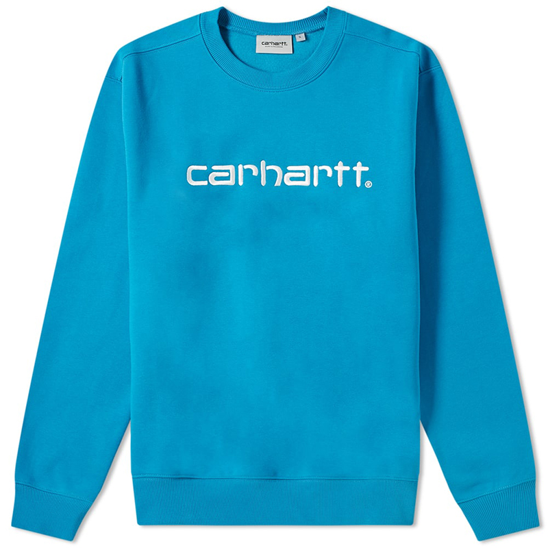 Carhartt Crewneck Sweater Pizol/White
