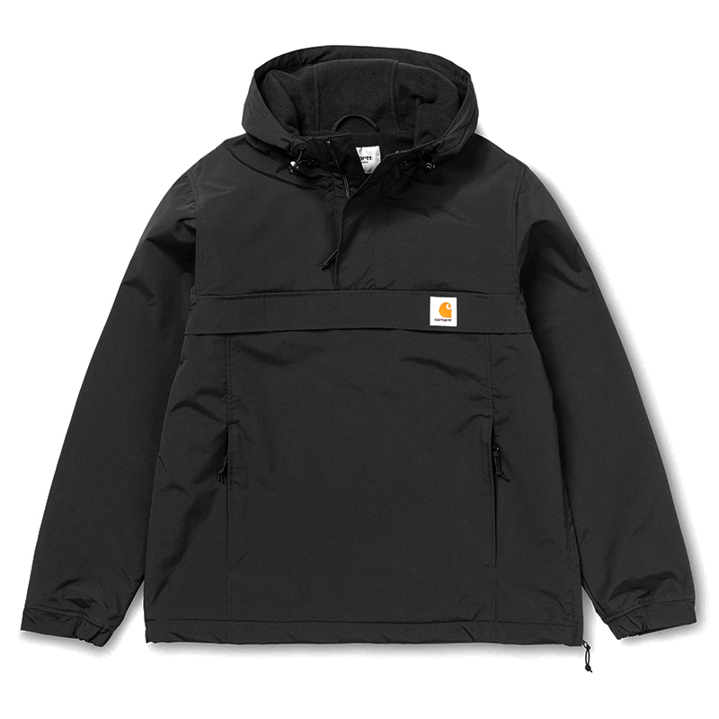Carhartt Nimbus Pullover Jacket Black Fleece Lining