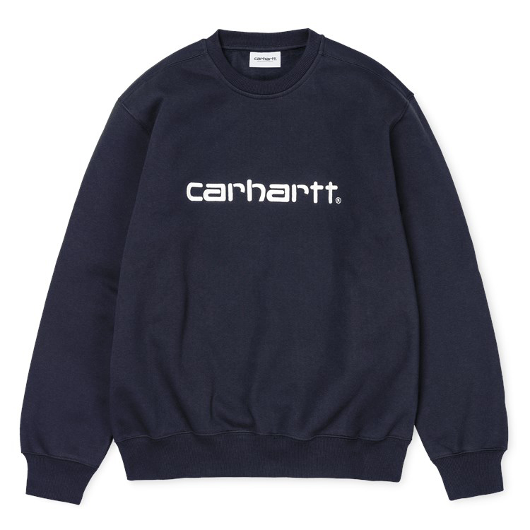 Carhartt Carhartt Crewneck Sweater Dark Navy/Wax