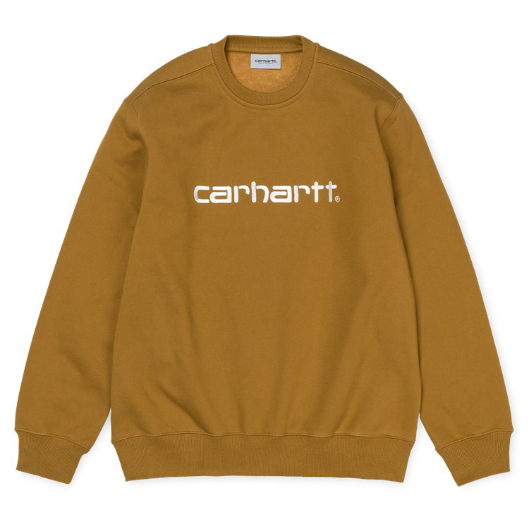 Carhartt Carhartt Crewneck Sweater Hamilton Brown/Wax