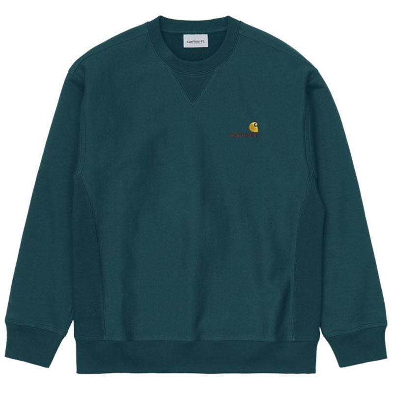 Carhartt WIP American Script Sweater Deep Lagoon
