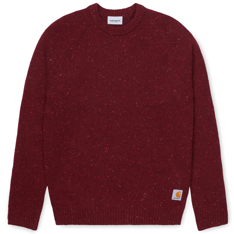 Carhartt WIP Anglistic Sweater Bordeaux Heather