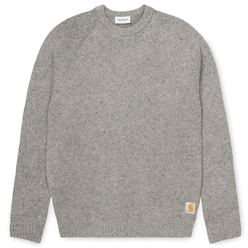 Carhartt WIP Anglistic Sweater Dark Grey Heather