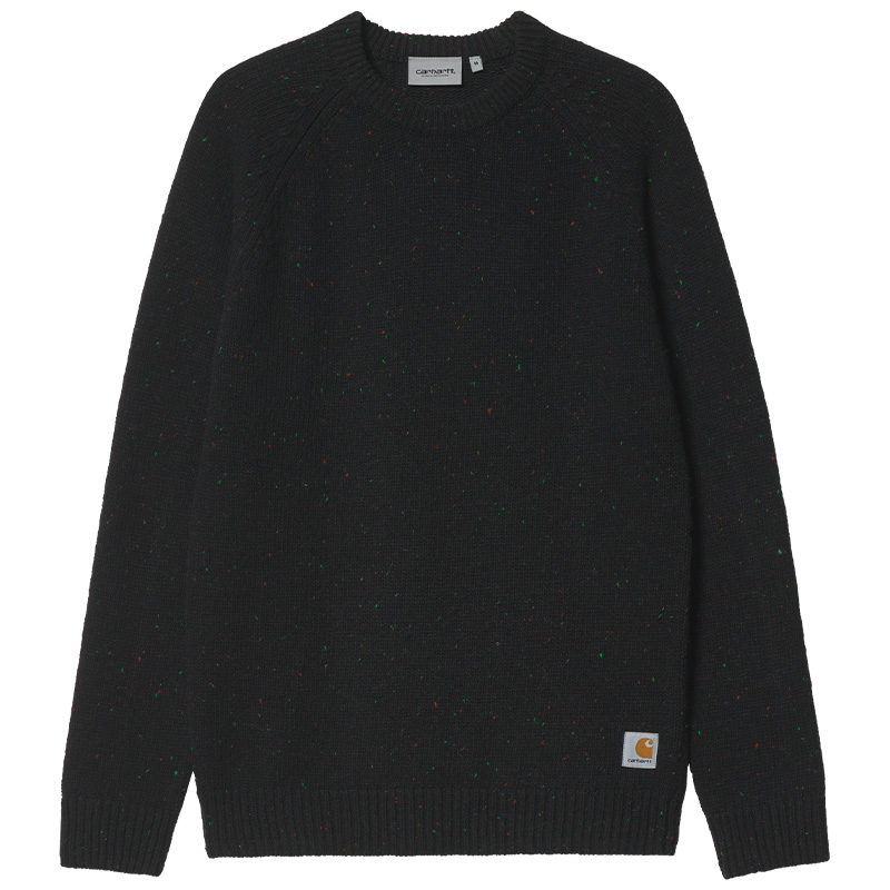Carhartt WIP Anglistic Sweater Speckled Black