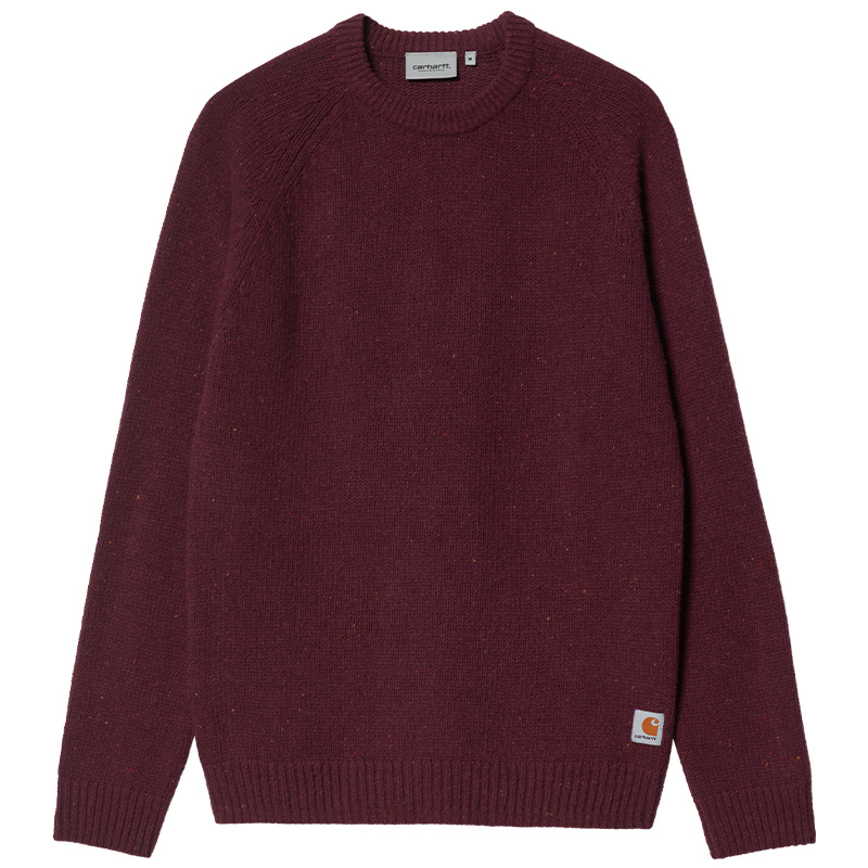 Carhartt WIP Anglistic Sweater Speckled Wine