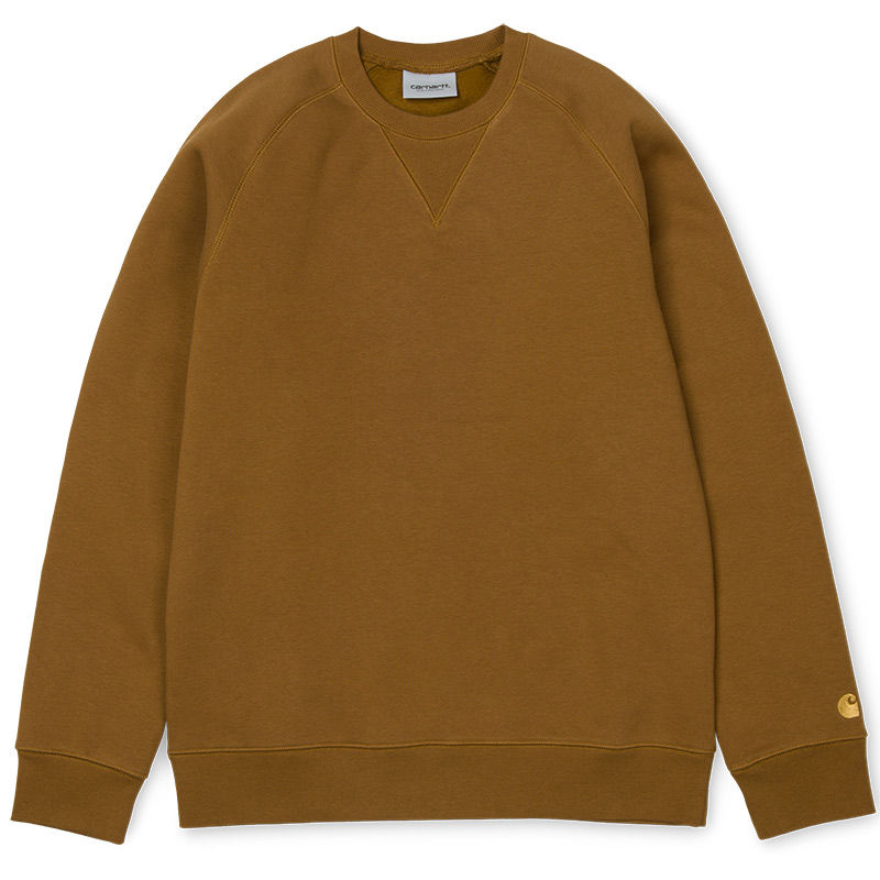 Carhartt WIP Chase Crewneck Sweater Hamilton Brown/Gold