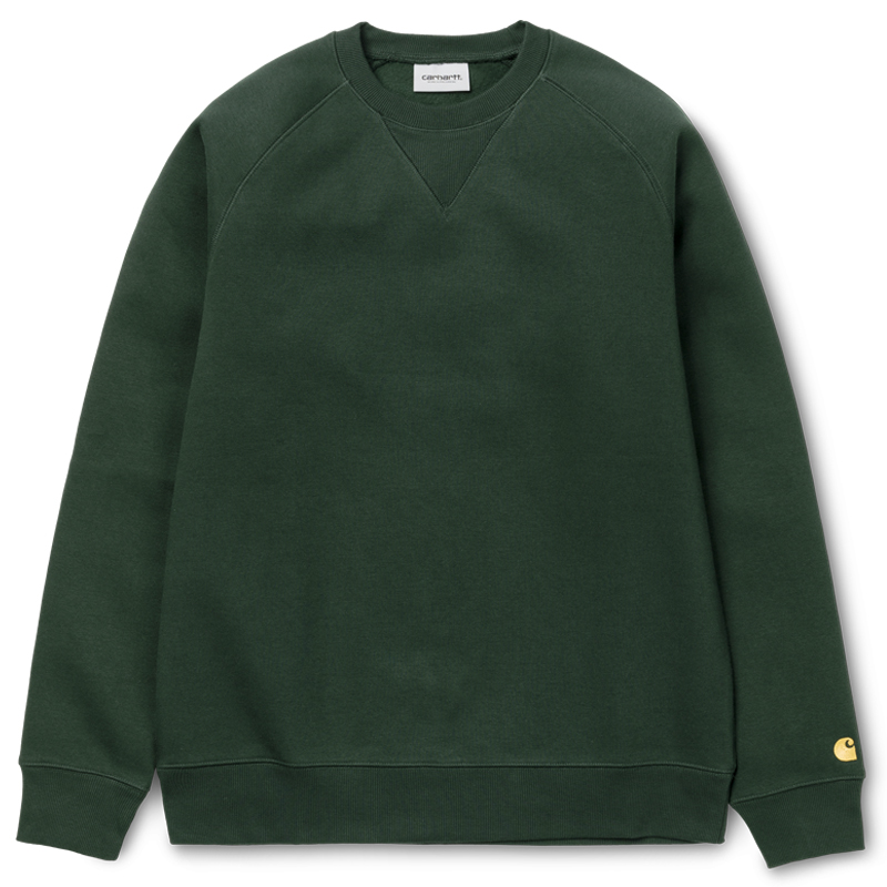 Carhartt WIP Chase Sweater Dark Teal/Gold