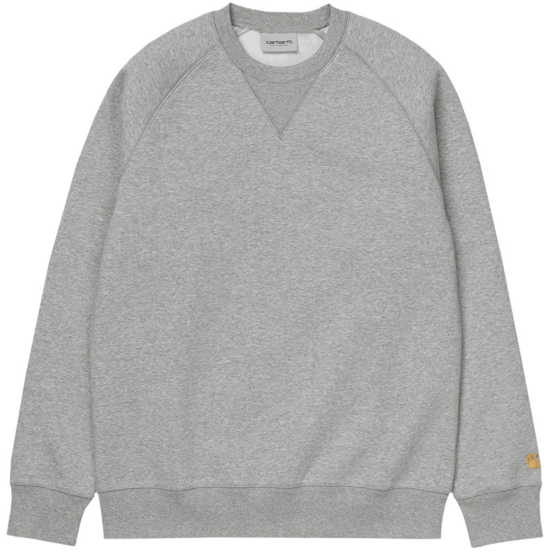 Carhartt WIP Chase Sweater Grey Heather/Gold
