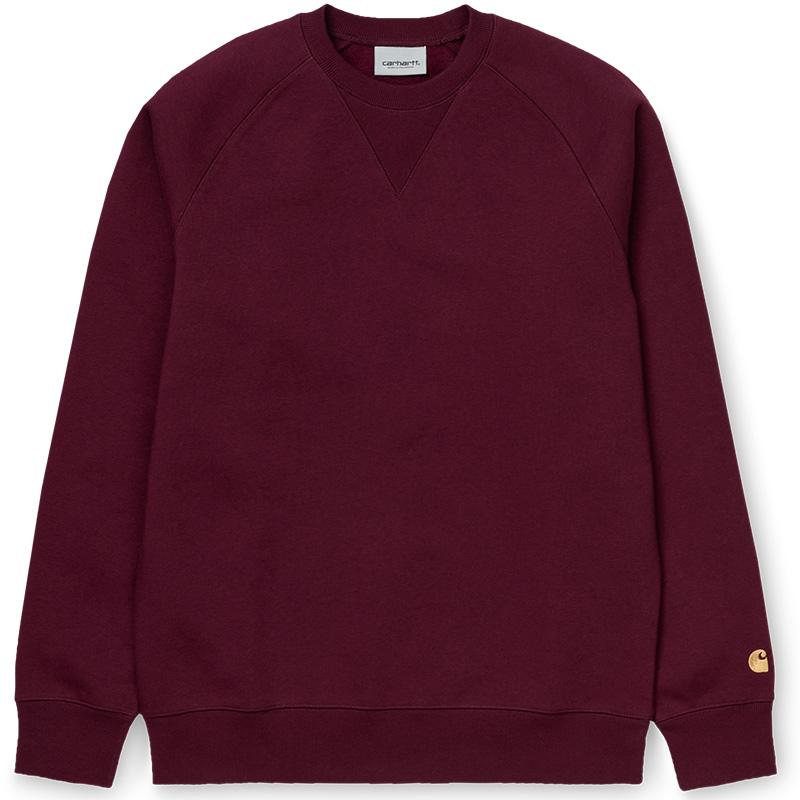 Carhartt WIP Chase Crewneck Sweater Merlot/Gold
