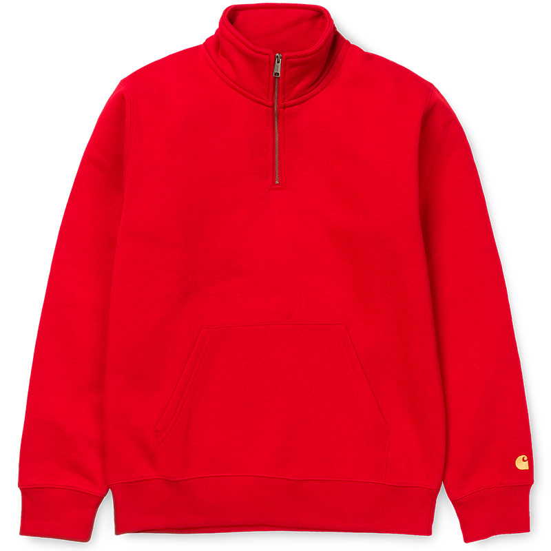Carhartt WIP Chase Zip Neck Sweater Cardinal/Gold