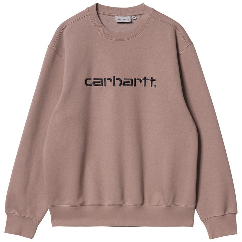Carhartt WIP Crewneck Sweater Earthy Pink/Black