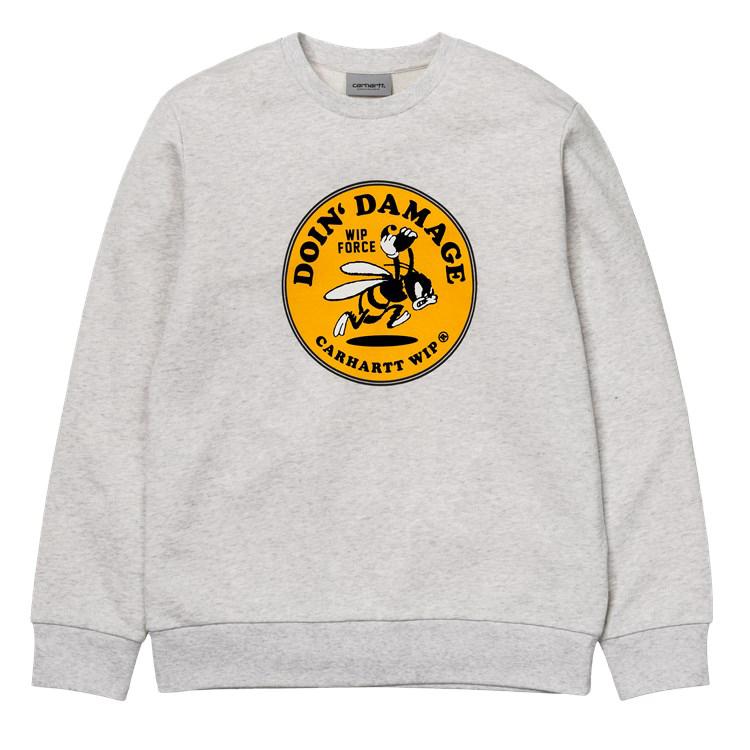 Carhartt Force Crewneck Sweater Ash Heather
