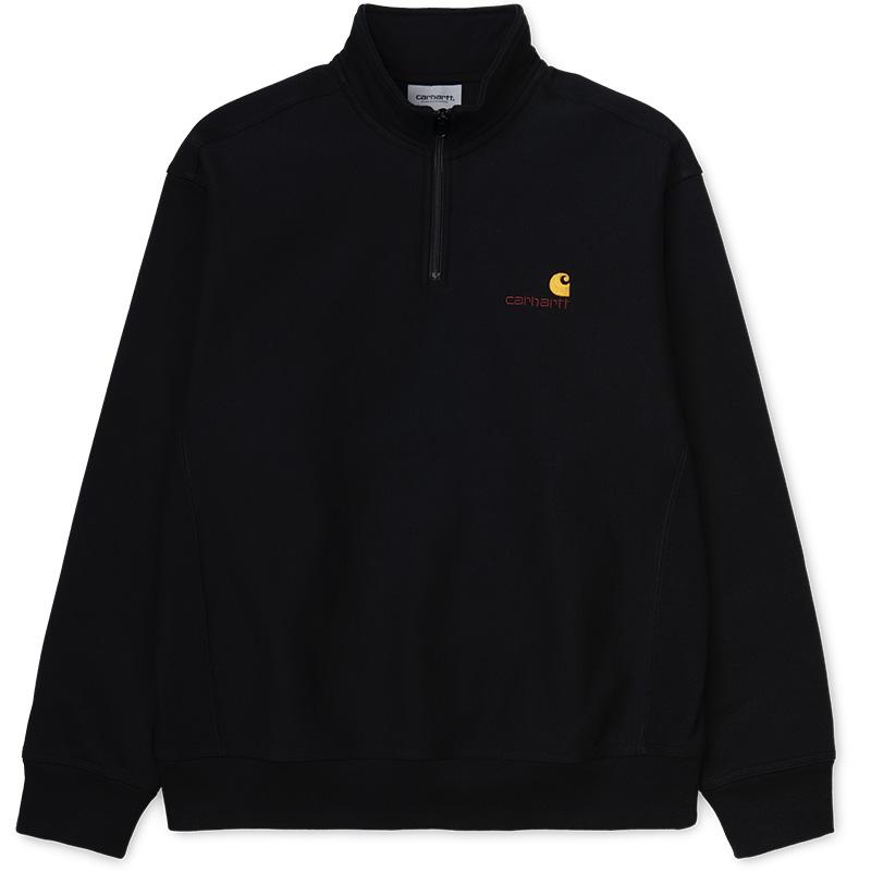 Carhartt WIP Half Zip American Script Sweater Black