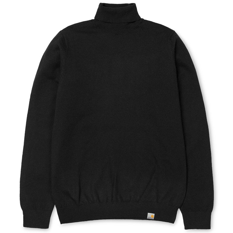 Carhartt WIP Playoff Turtleneck Sweater Black
