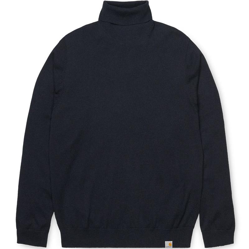Carhartt WIP Playoff Turtleneck Sweater Dark Navy