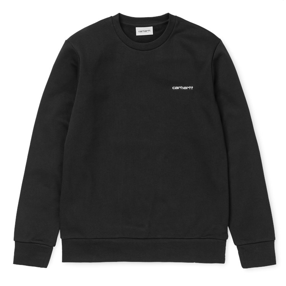 Carhartt WIP Script Embroidery Sweater Black/White