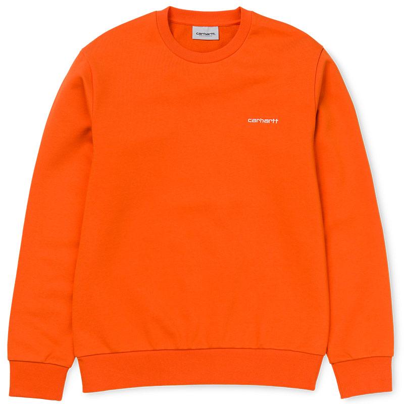 Carhartt WIP Script Embroidery Sweater Pepper/White