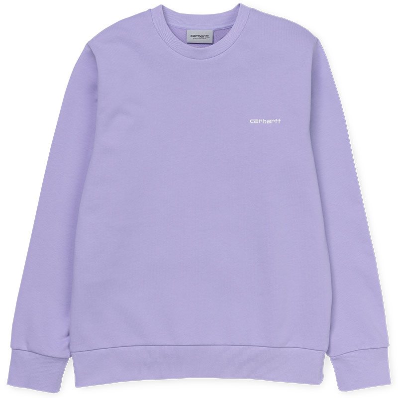 Carhartt WIP Script Embroidery Sweater Soft Lavender/White