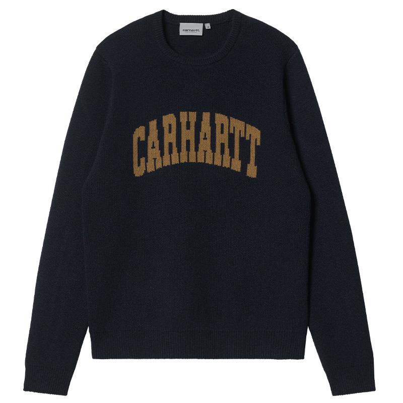 Carhartt WIP University Script Sweater Dark Navy/Hamilton Brown