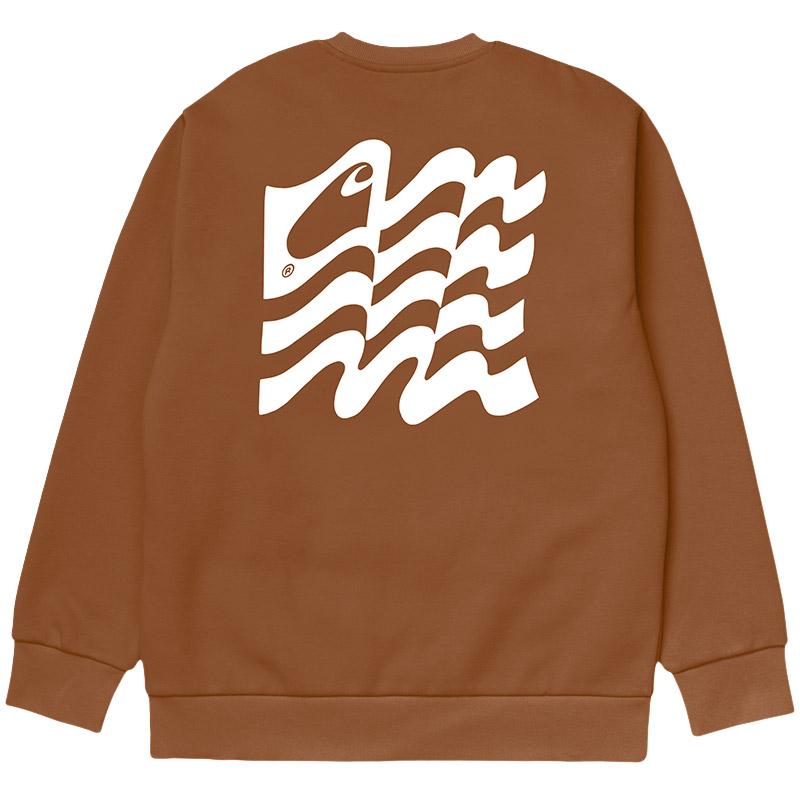 Carhartt WIP Wavy State Sweater Rum/White