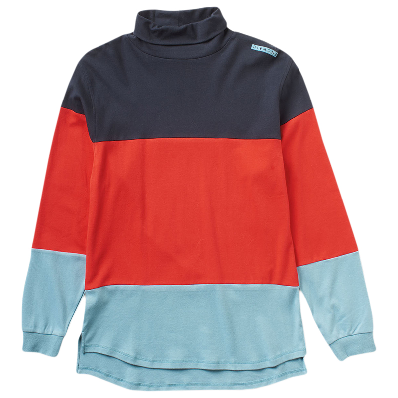 Diamond Alps Colorblock Turtleneck Sweater Navy