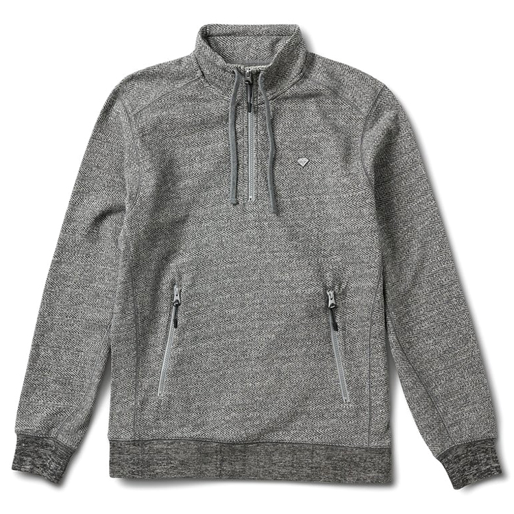 Diamond Diamante Mockneck Sweater Heather Grey