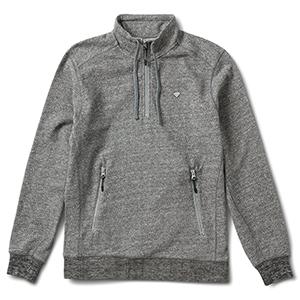 Diamond Diamante Mockneck Sweater Heather Grey