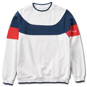 Diamond Fordham Crewneck Sweater White