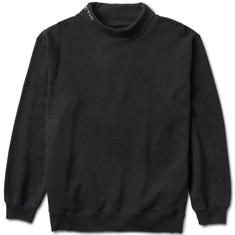 Diamond Oversized Mock Neck Sweater Black