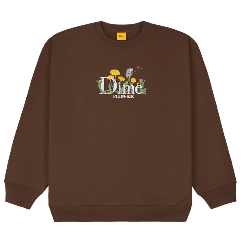 Dime Classic Allergies Crewneck Sweater Stray Brown