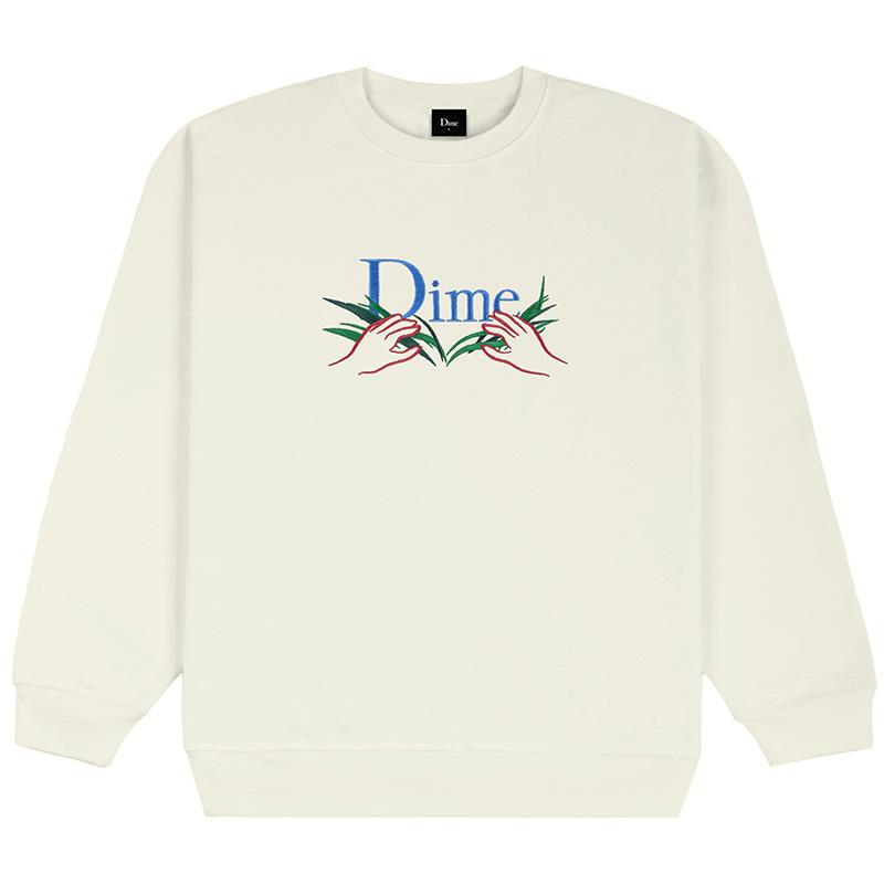 Dime Classic Grass Crewneck Sweater Cream