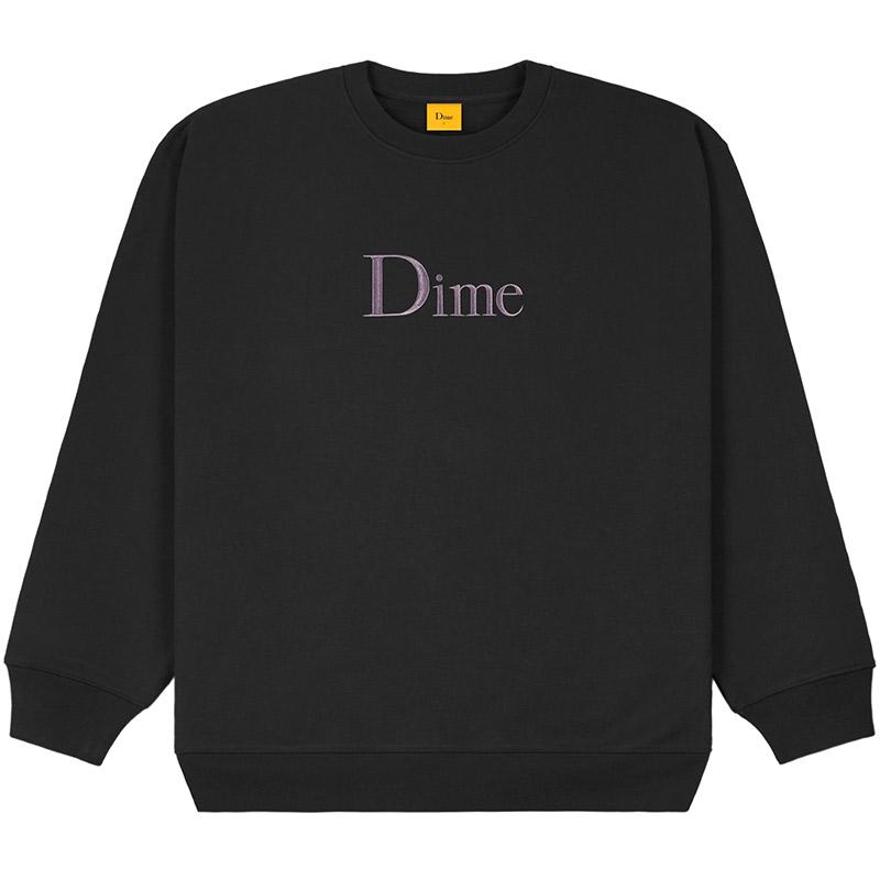 Dime Classic Logo Crewneck Sweater Black