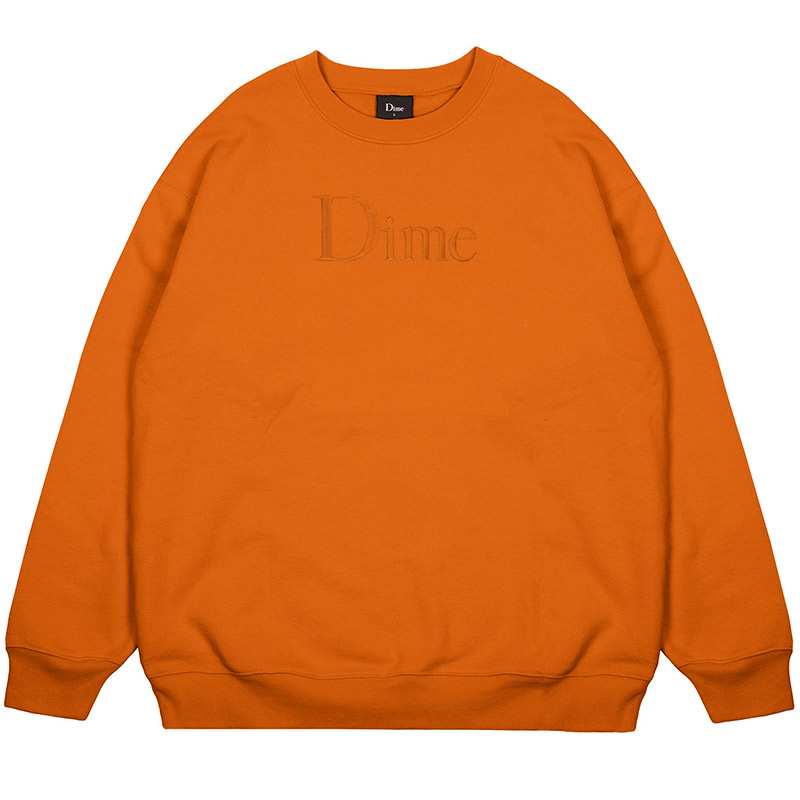 Dime Classic Logo Crewneck Sweater Orange