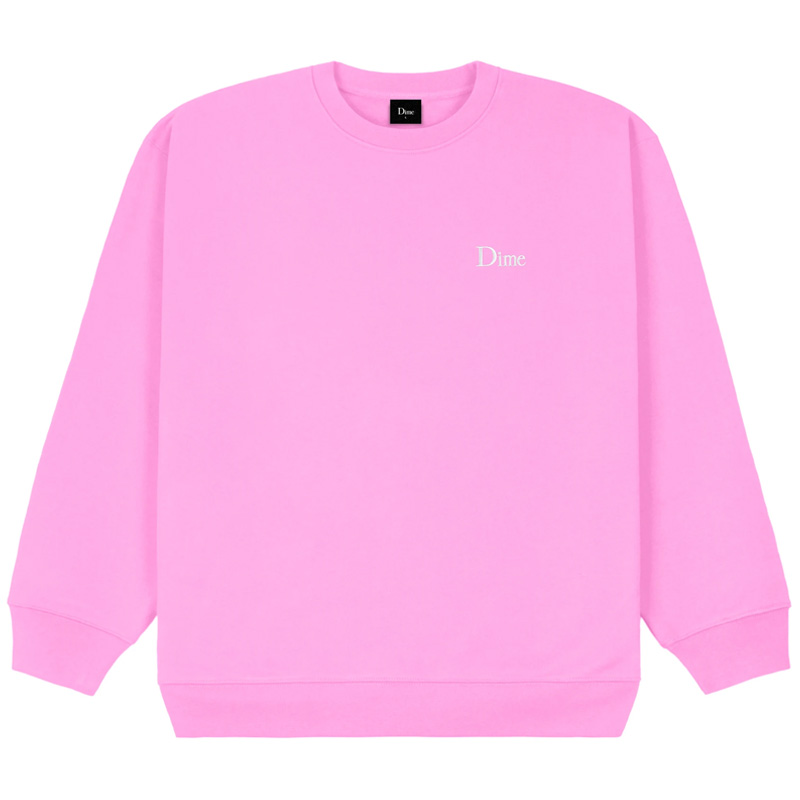 Dime Classic Small Logo Crewneck Sweater Light Pink