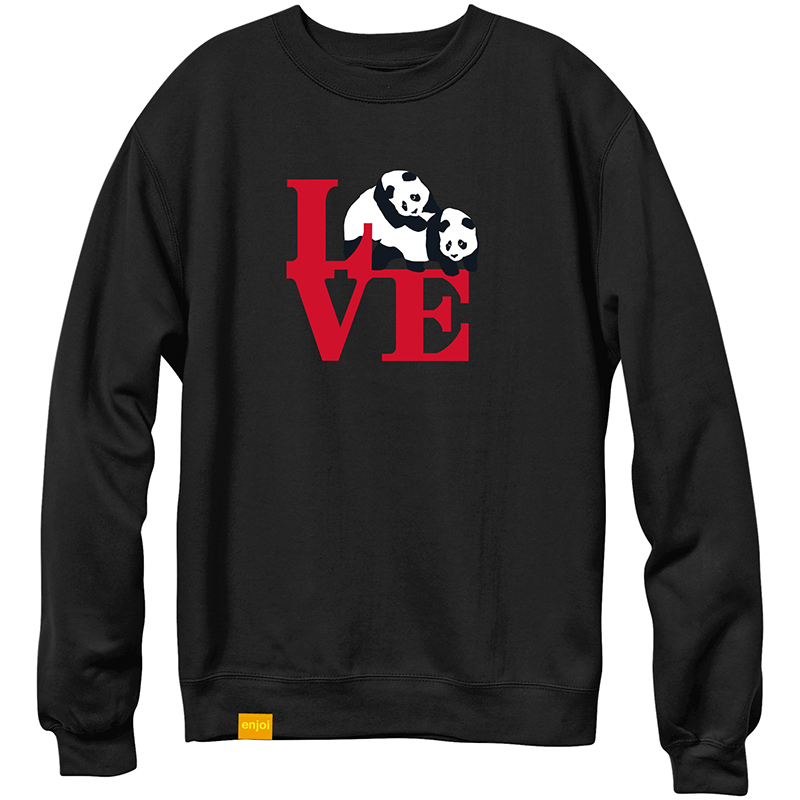 enjoi enjoioi Love Crewneck Sweater Black
