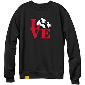enjoi enjoioi Love Crewneck Sweater Black