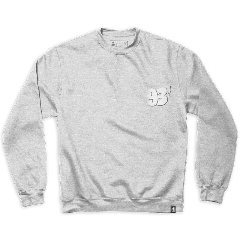 Girl 93 Cent Sign Painter Crewneck Sweater Grey/Heather