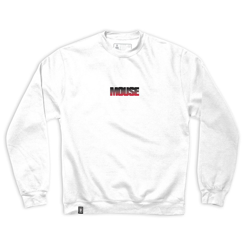 Girl Films Mouse Embroidered Crewneck Sweater White