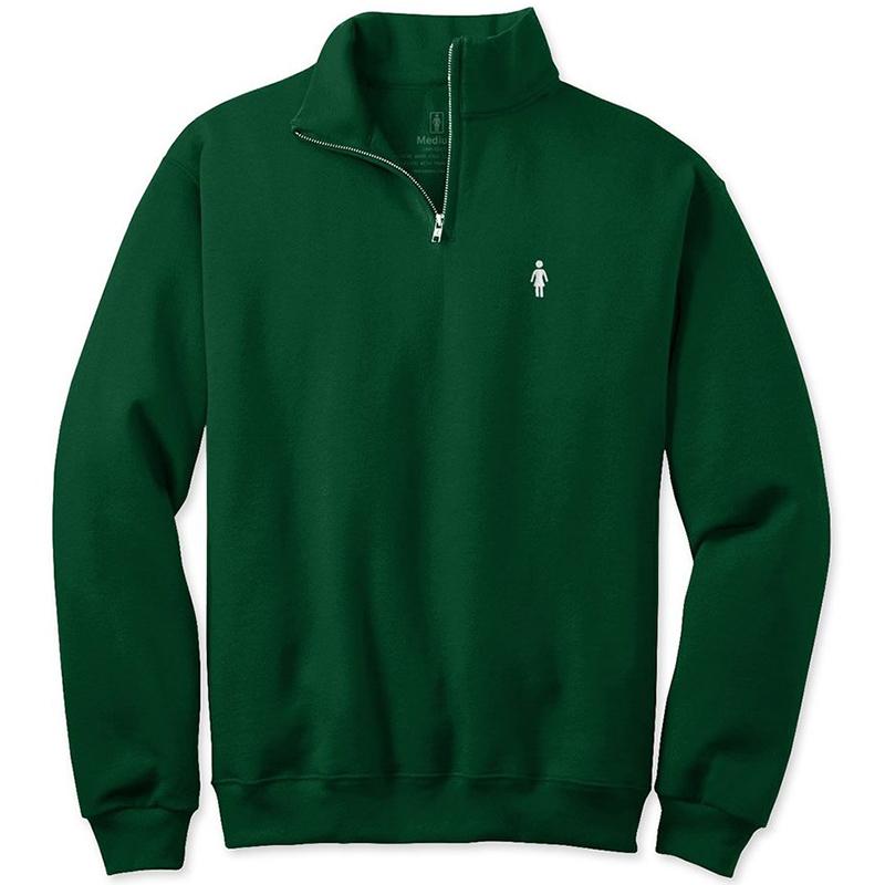 Girl Micro Og 1/4 Zip Cadet Sweater Forest Green
