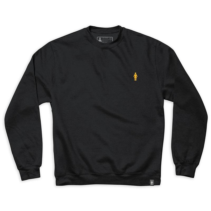 Girl Micro Og Embroidered Crewneck Sweater Black