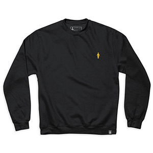 Girl Micro Og Embroidered Crewneck Sweater Black