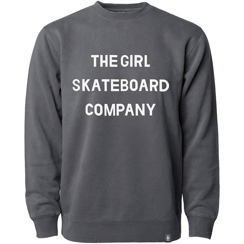 Girl Sans Pigment Dyed Crewneck Sweater Black