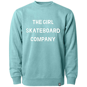Girl Sans Pigment Dyed Crewneck Sweater Mint