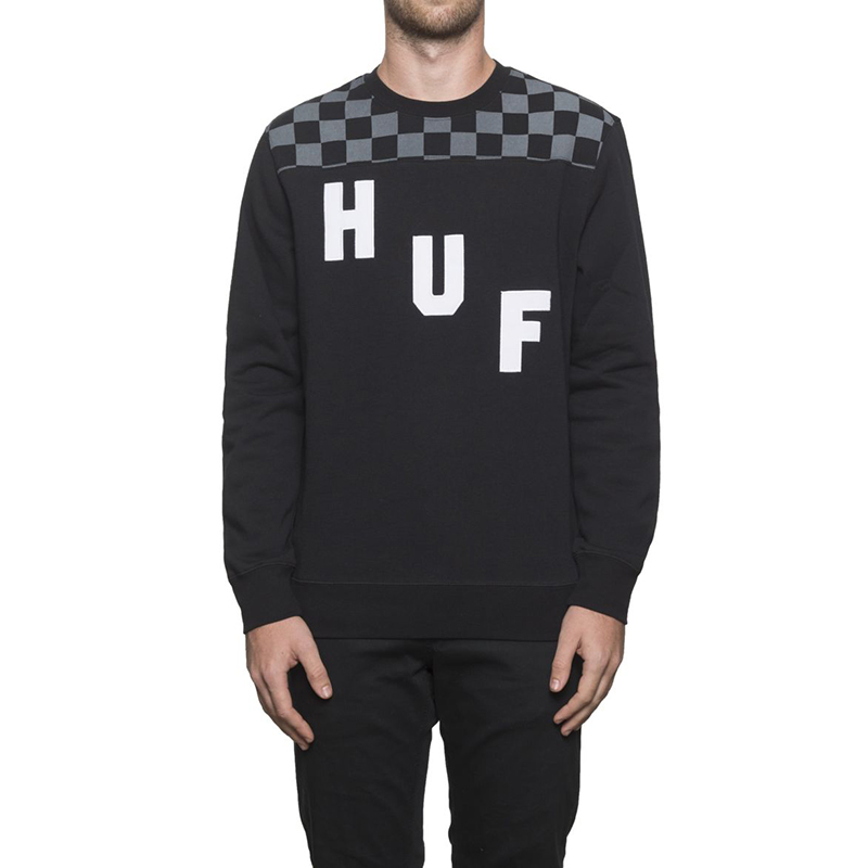 HUF Blackout Crewneck Sweater Black
