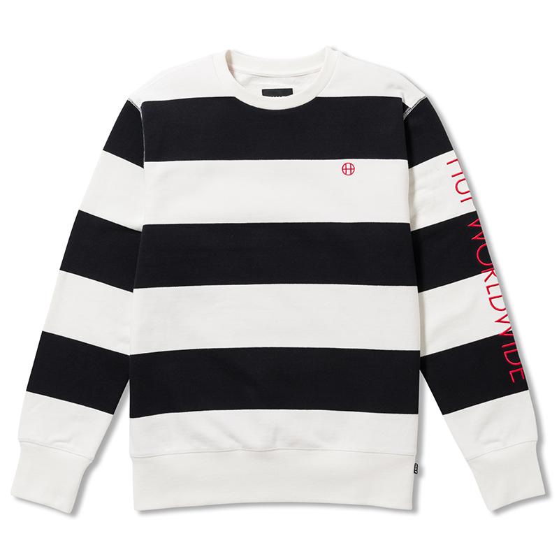 HUF Catalina Stripe Crewneck Sweater Black