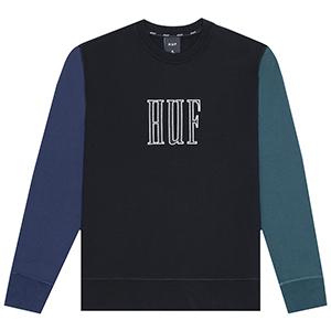 HUF Crevasse Crewneck Sweater Black
