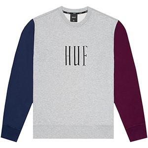 HUF Crevasse Crewneck Sweater Grey Heather