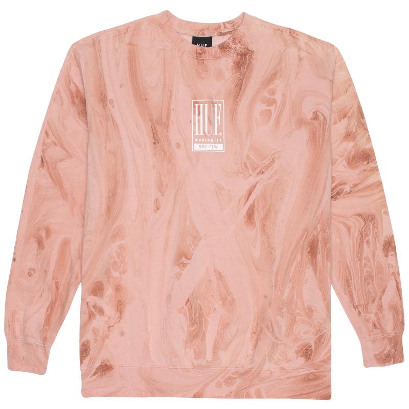 HUF Elias Crewneck Sweater Plastic Pink