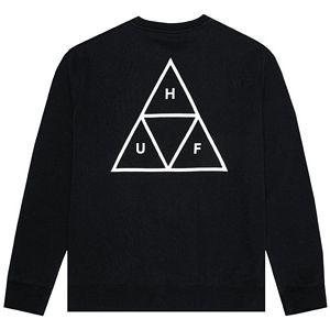 HUF Essentials Triple Triangle Crewneck Sweater Black